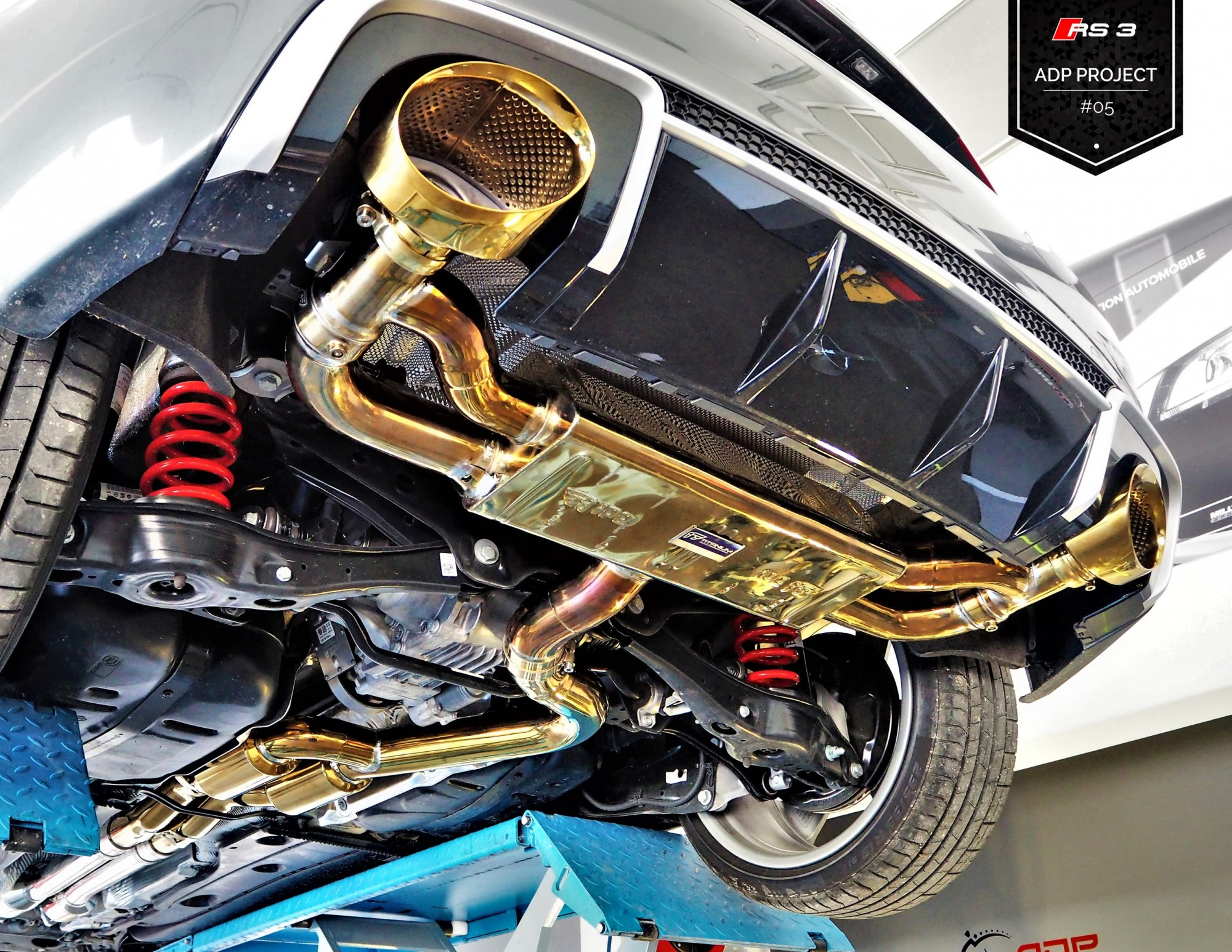 Echappement iPE Innotech Titane Salon de Provence - Audi RS3 8V ADP Performance