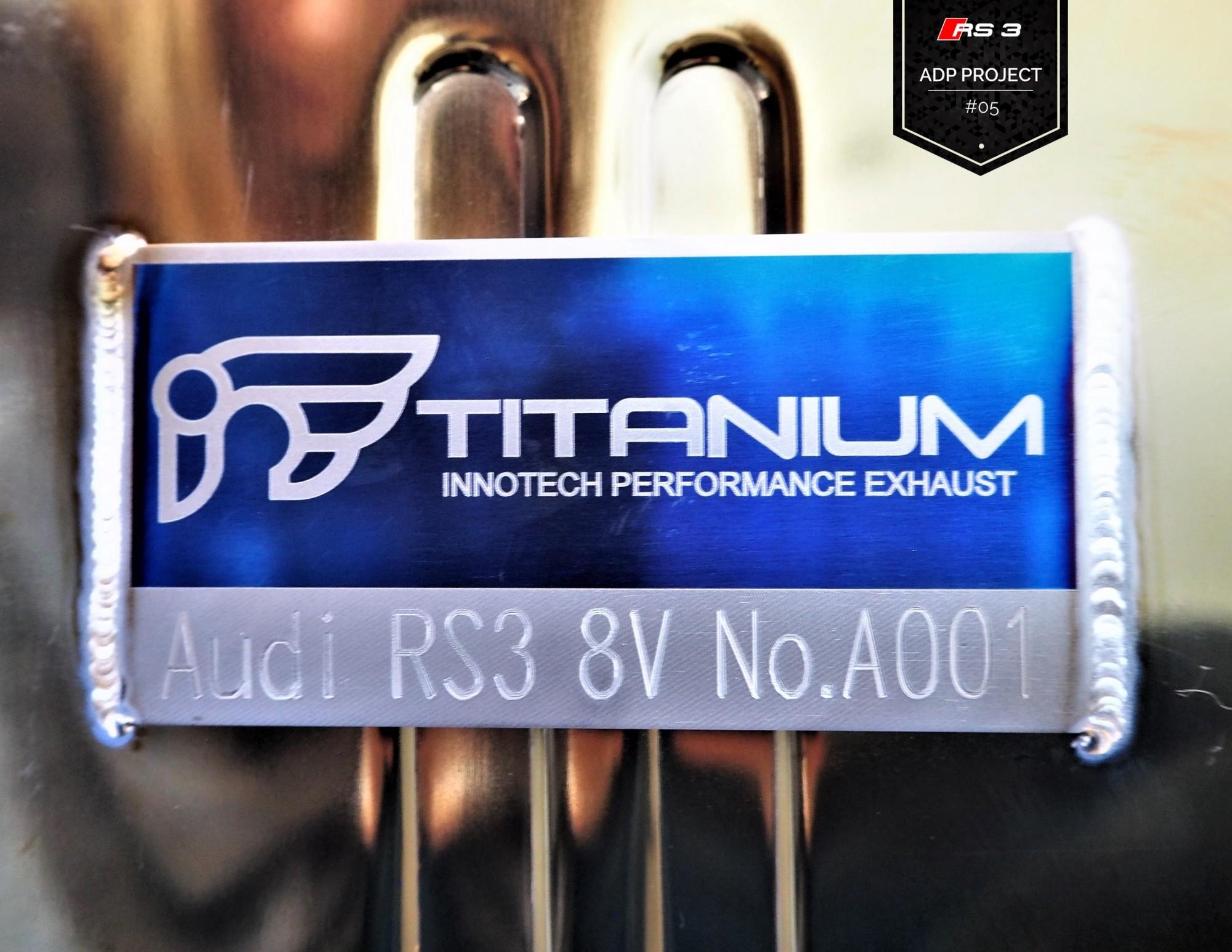 Echappement iPE Innotech Titane Aix en Provence - Audi RS3 8V ADP Performance