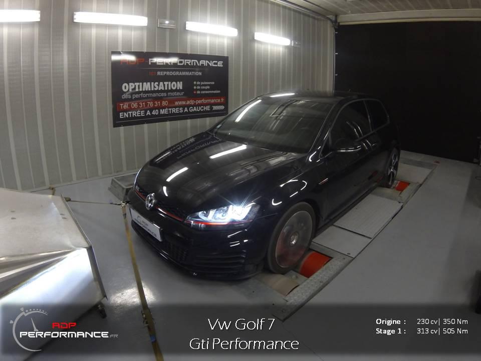 Reprogrammation moteur vw golf 7 GTI