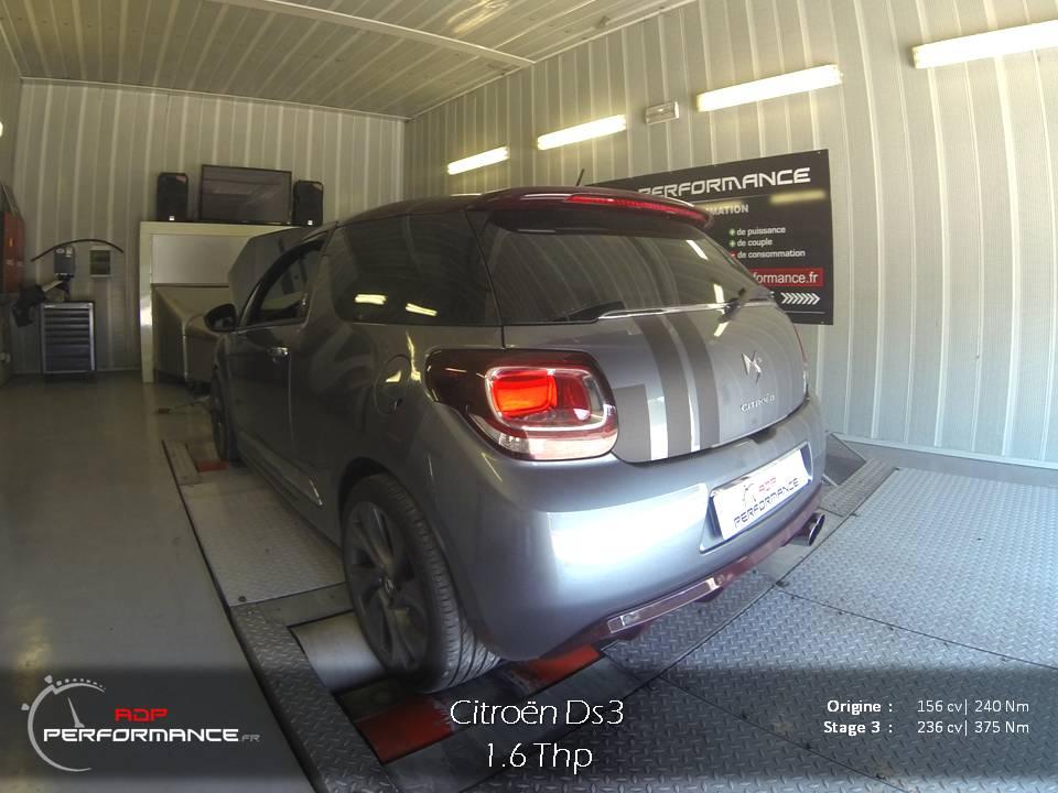Citroën Ds3 1.6 thp banc de puissance