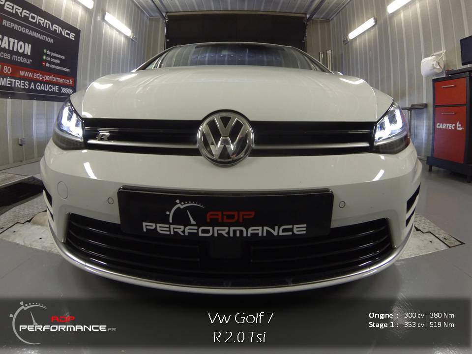 reprogrammation moteur vw golf 7 r realisations reprogrammation auto sur marseille et salon. Black Bedroom Furniture Sets. Home Design Ideas