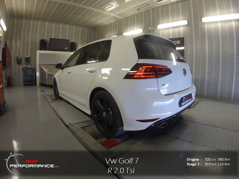 Reprogrammation moteur vw golf 7 R