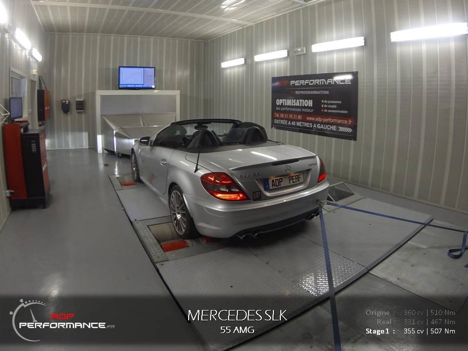 Reprogrammation moteur Mercedes SLK 55 AMG