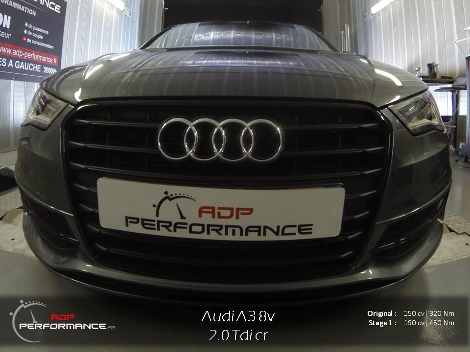 Reprogrammation moteur Audi A3 2.0 Tdi 150