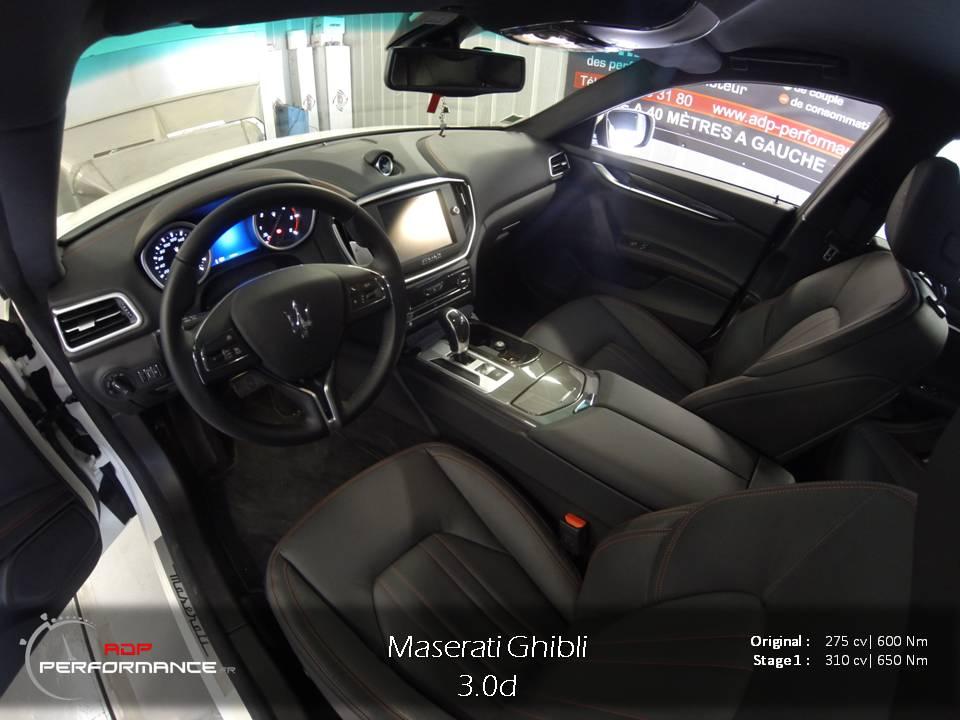 Reprogrammation moteur Maserati ghibli