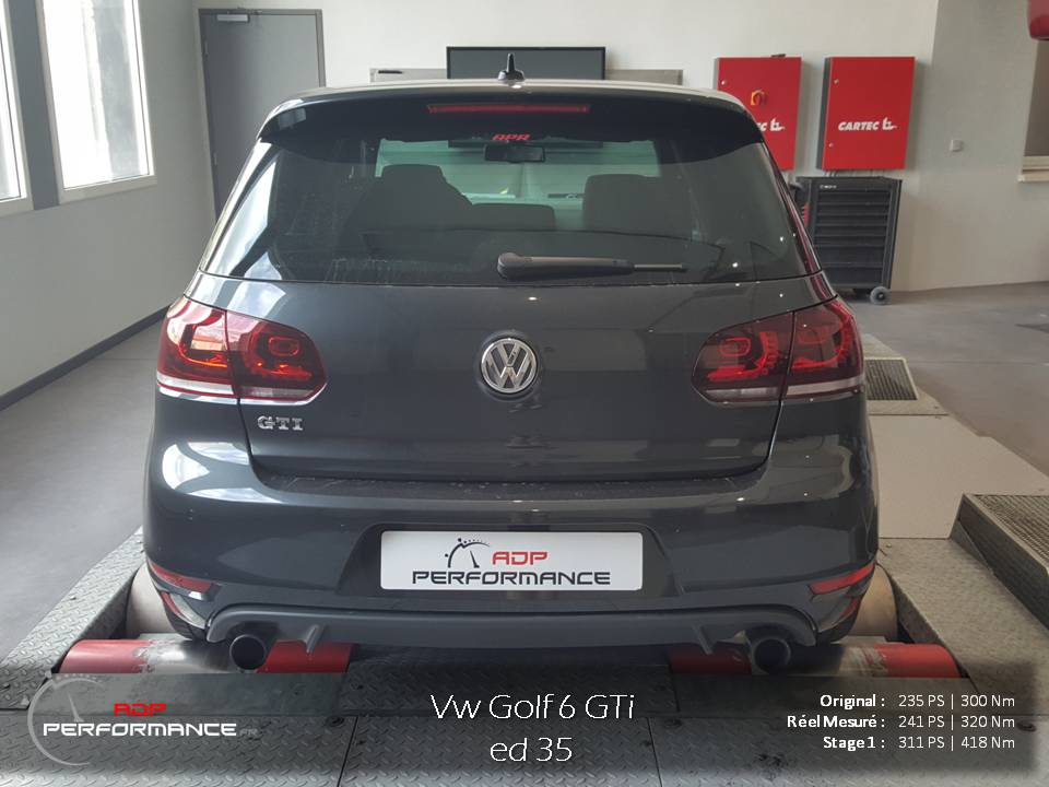 reprogrammation moteur golf 6 gti edition 35 2 0 tsi 235 cv realisations reprogrammation auto. Black Bedroom Furniture Sets. Home Design Ideas
