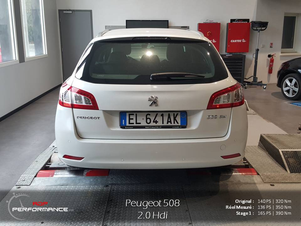 Reprogrammation moteur Peugeot 508 2.0 Hdi 140 cv