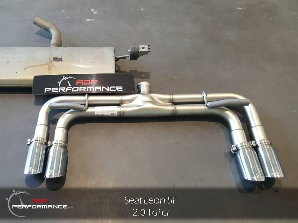 Remus Quad Exhaust Seat Leon 2.0 Tdi
