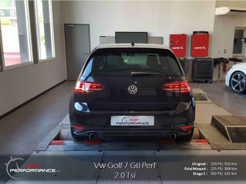 Golf 7 Gti Performance Stage 1  300 hp