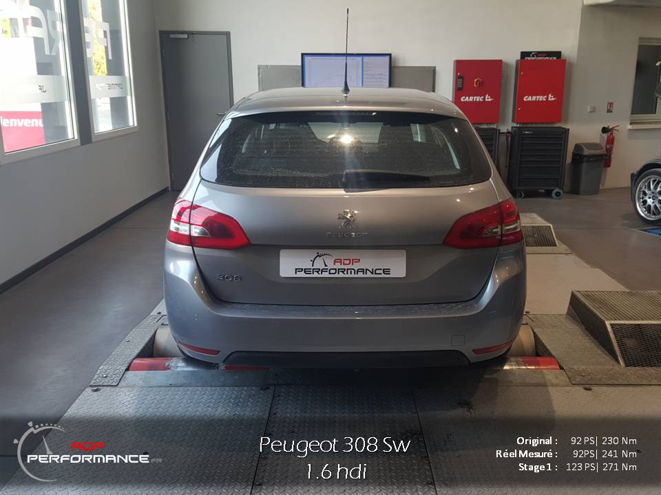 Peugeot 308 Hdi reprogrammé Stage 1