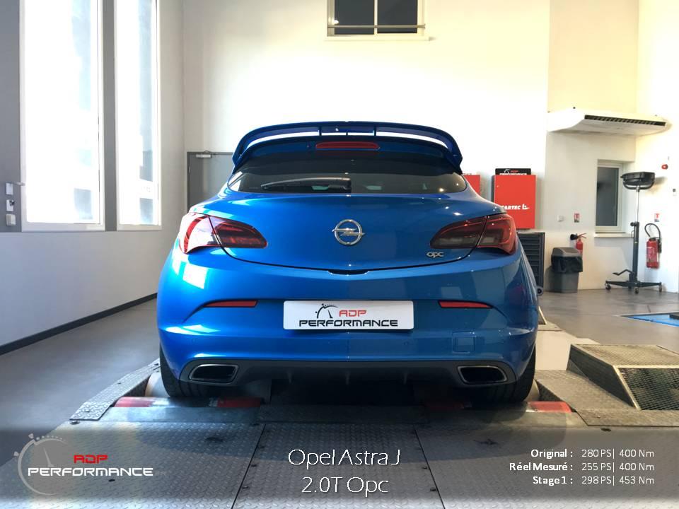 Mesure de performances, puissance et couple, Opel Astra OPC