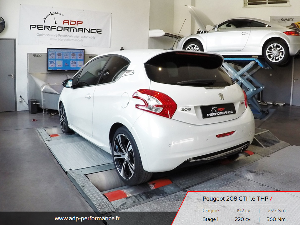 reprogrammation moteur peugeot 208 gti 1 6 thp cavaillon realisations reprogrammation auto. Black Bedroom Furniture Sets. Home Design Ideas