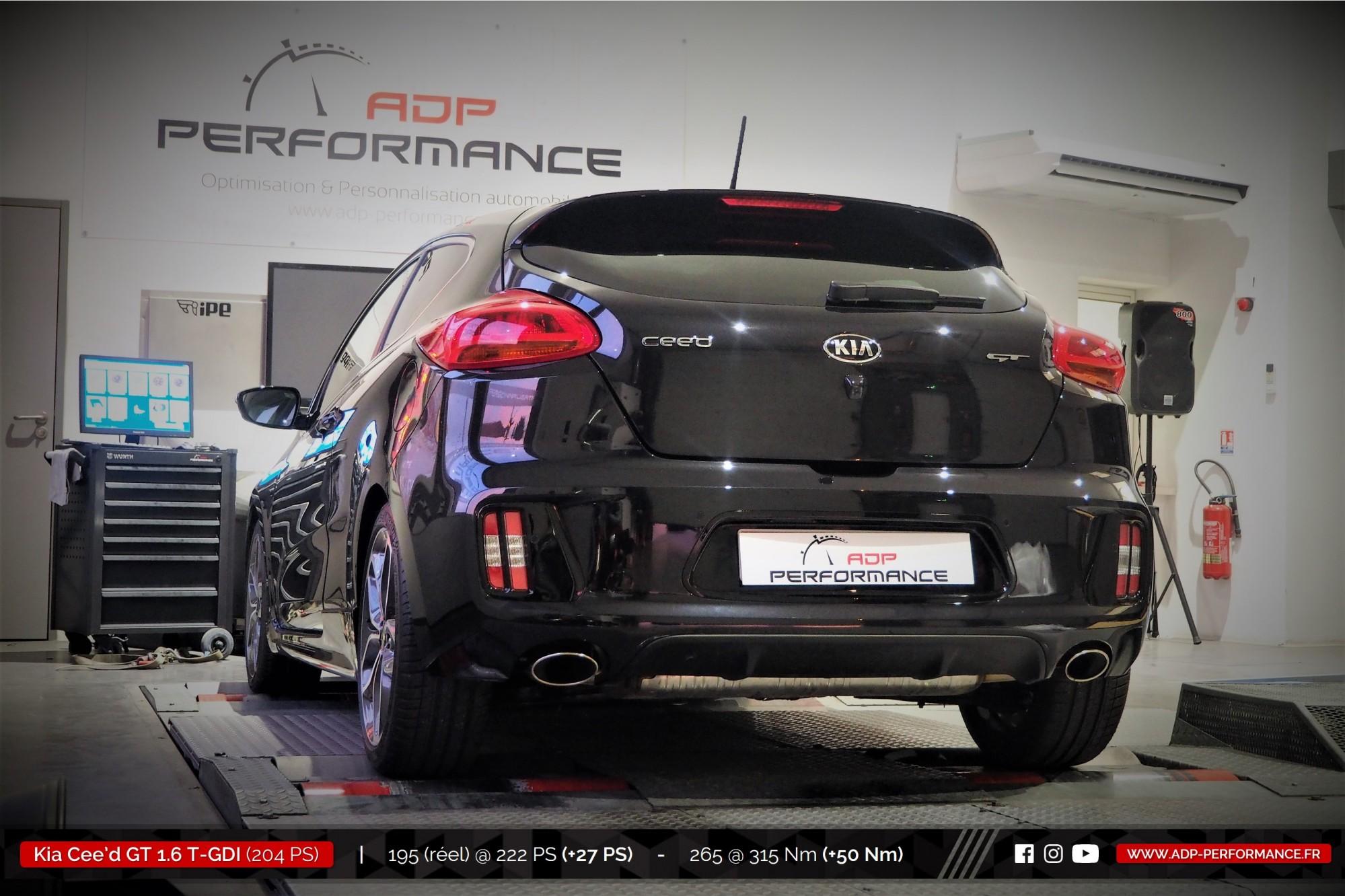 Reprogrammation moteur Marseille - Kia Cee'd GT 1.6 T-GDI 204cv - ADP Performance