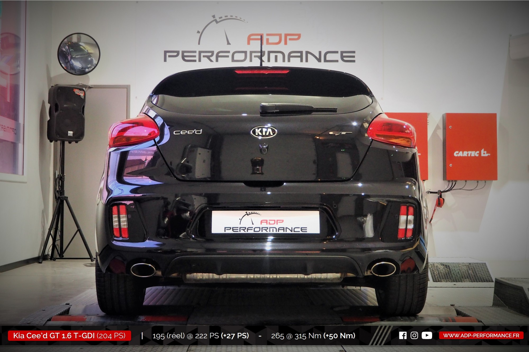 Reprogrammation moteur Arles - Kia Cee'd GT 1.6 T-GDI 204cv - ADP Performance