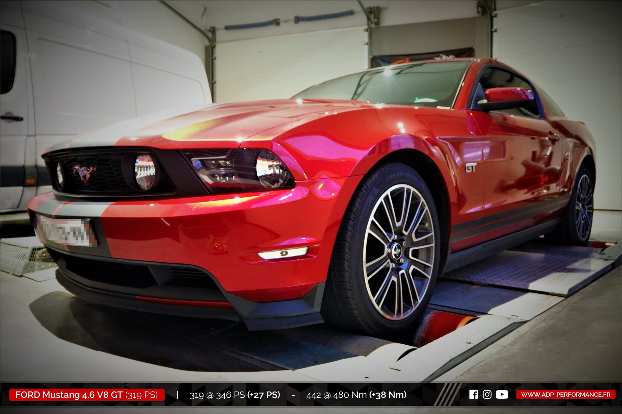 Reprogrammation moteur Salon de Provence - Ford Mustang GT 4.6 V8 319cv - ADP Performance