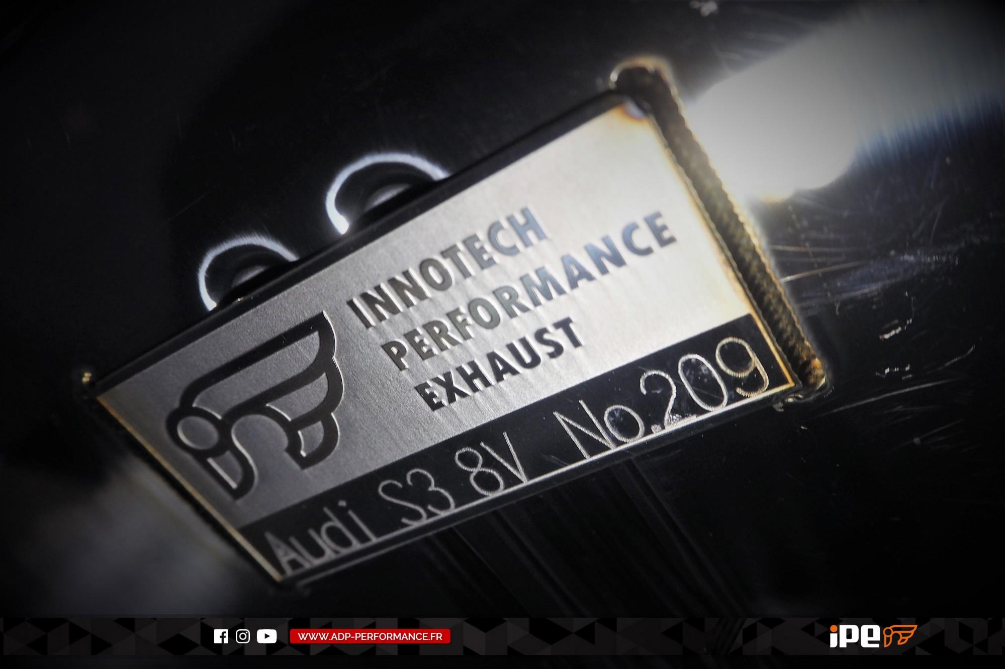 Ligne d'échappement (cat-back) iPE Innotech Montpellier - Audi S3 8V - ADP Performance