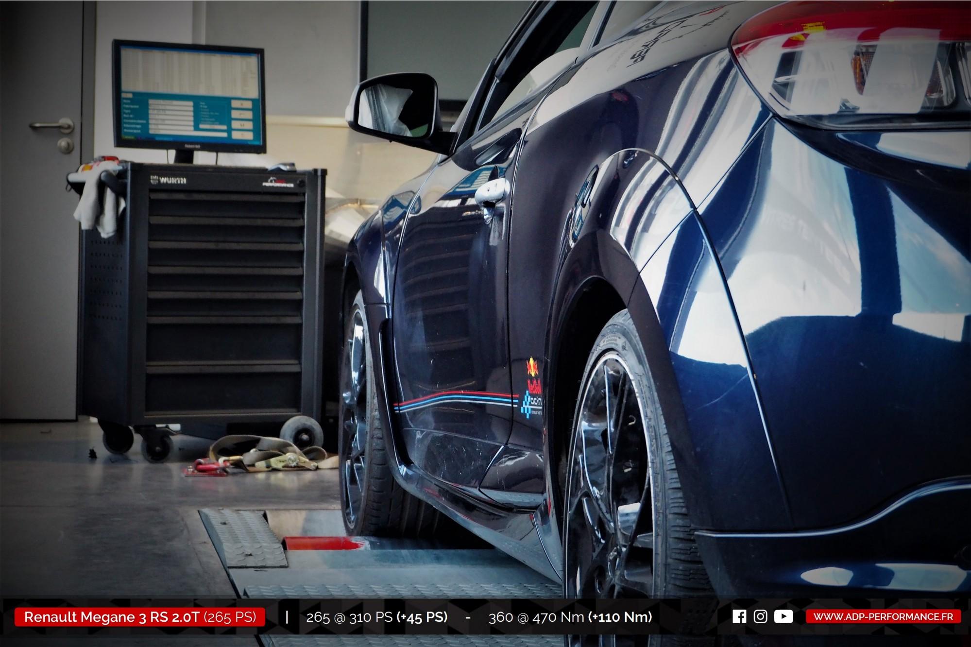 Reprogrammation moteur St Martin de Crau - Renault Megane 3 (Ph3) RS 2.0T 265cv - ADP Performance