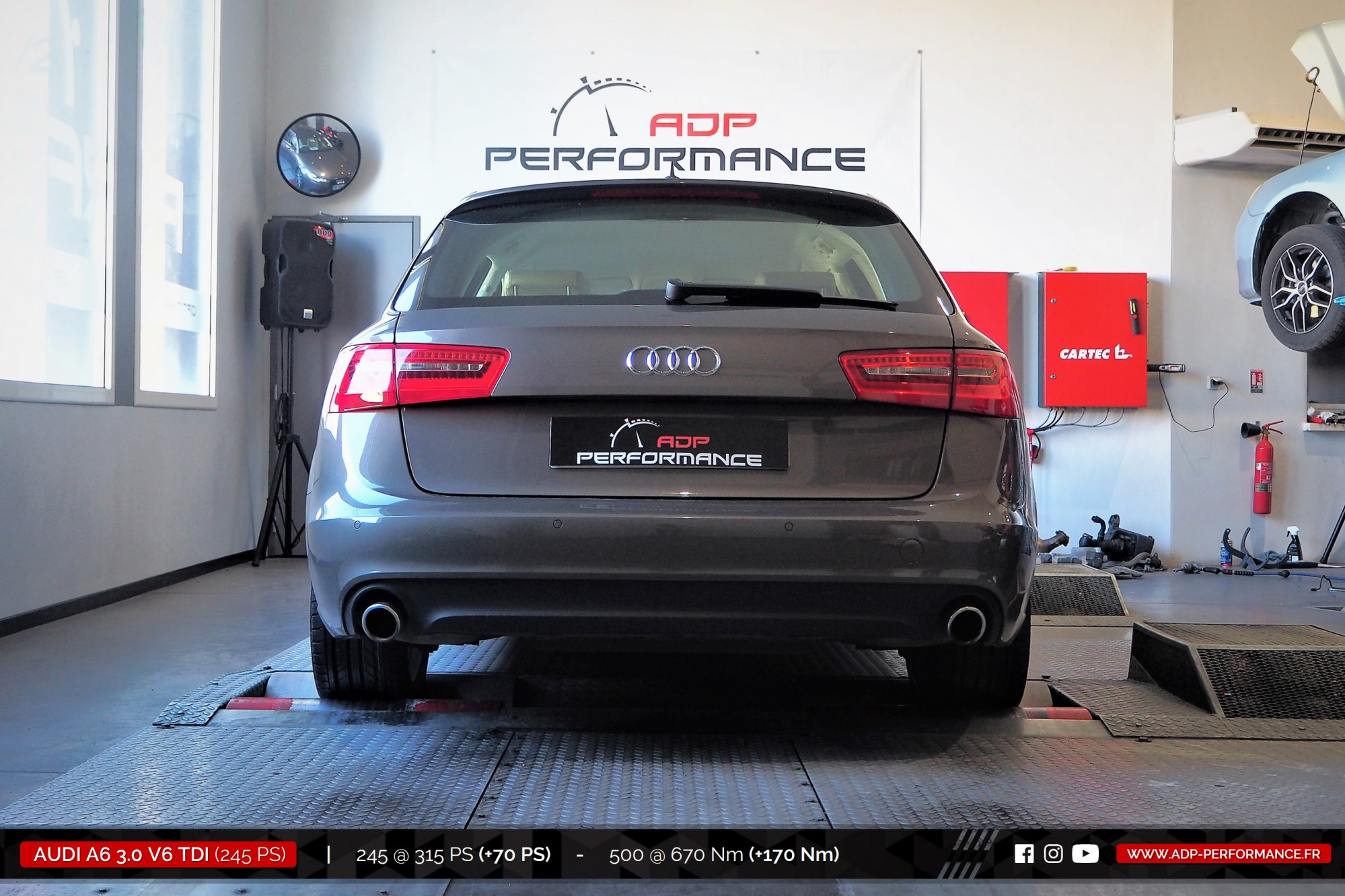 Reprogrammation moteur Stage 2 Avignon - Audi A6 3.0 V6 TDI 245cv- ADP Performance