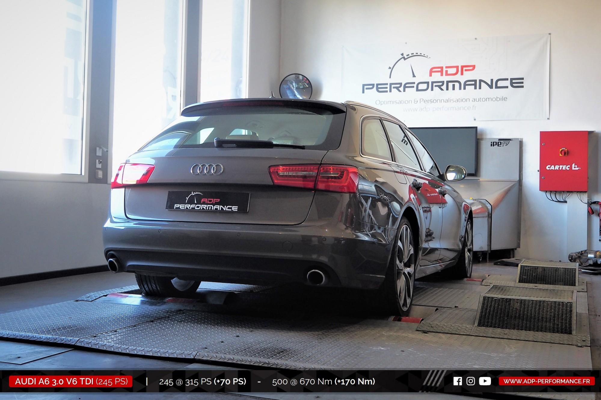 Reprogrammation moteur Stage 2 Nimes - Audi A6 3.0 V6 TDI 245cv- ADP Performance