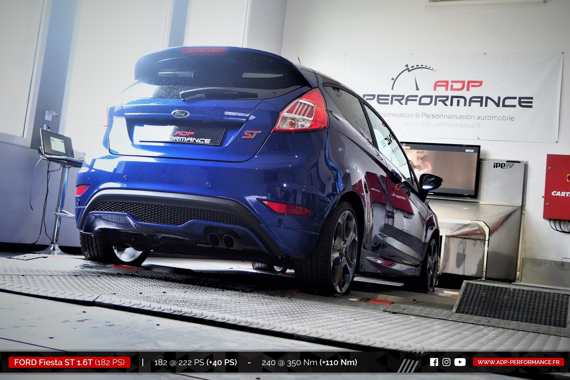 Reprogrammation moteur Cavaillon - Ford Fiesta ST 1.6T 182cv- ADP Performance