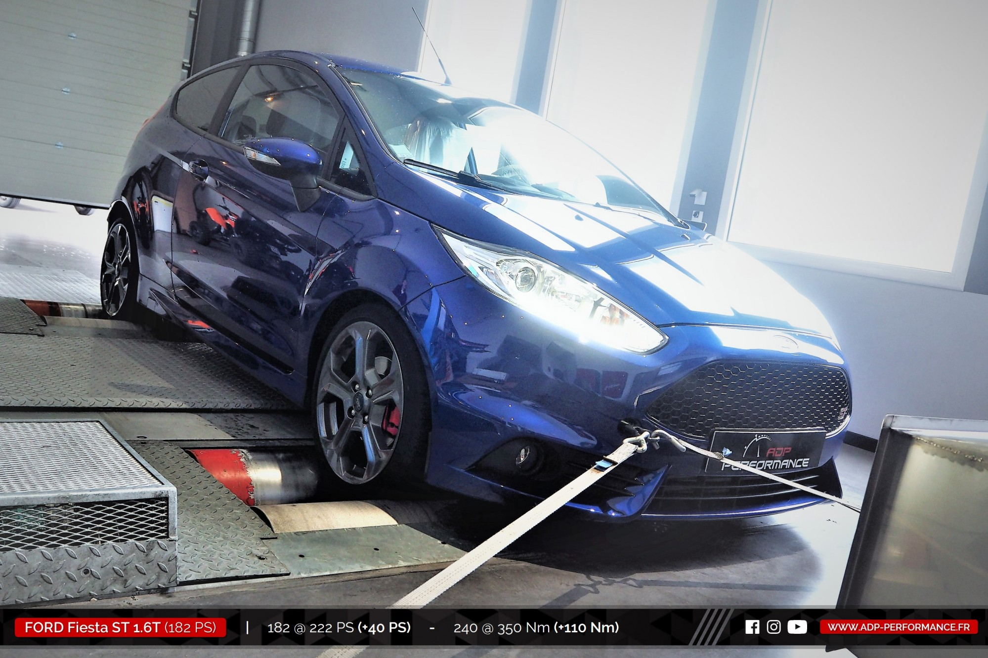 Reprogrammation moteur Salon de Provence - Ford Fiesta ST 1.6T 182cv- ADP Performance