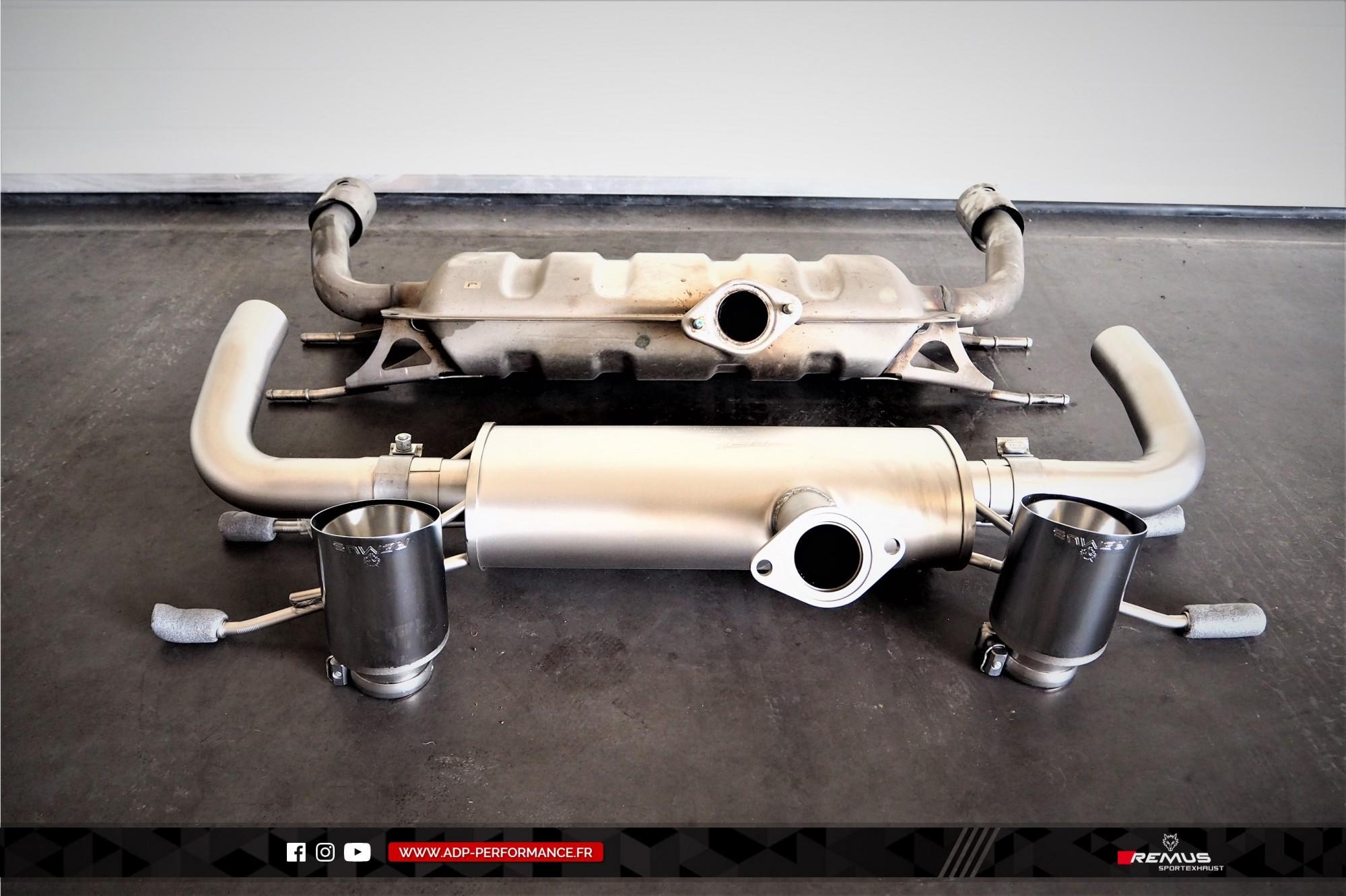 Ligne d'échappement (silencieux) Remus Aubagne  - Fiat 124 Spider - ADP Performance