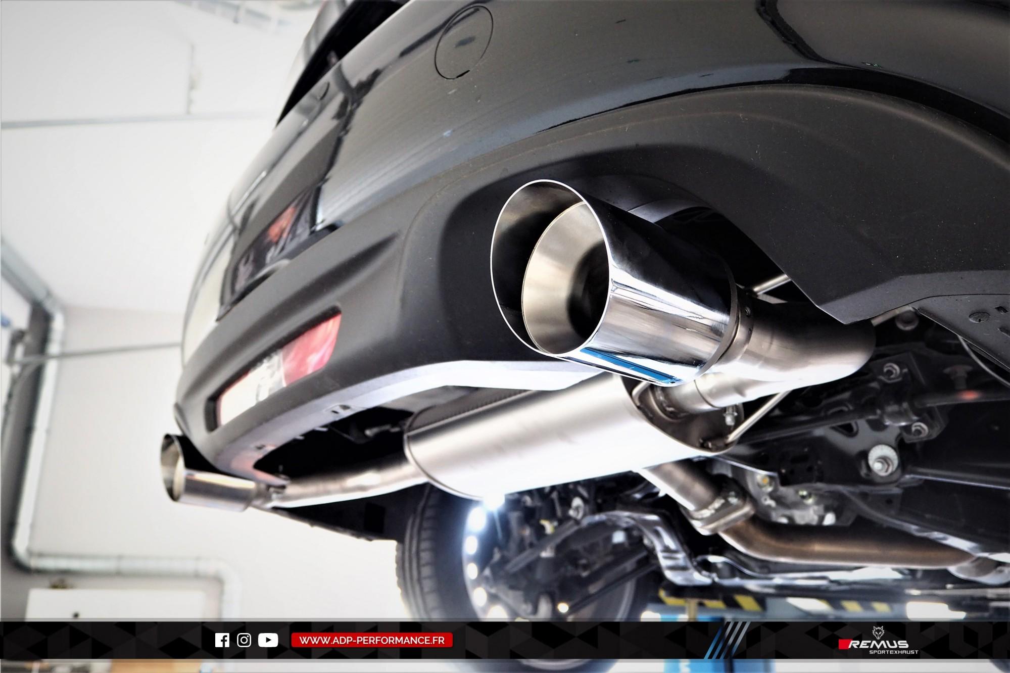 Ligne d'échappement (silencieux) Remus Marignane - Fiat 124 Spider - ADP Performance