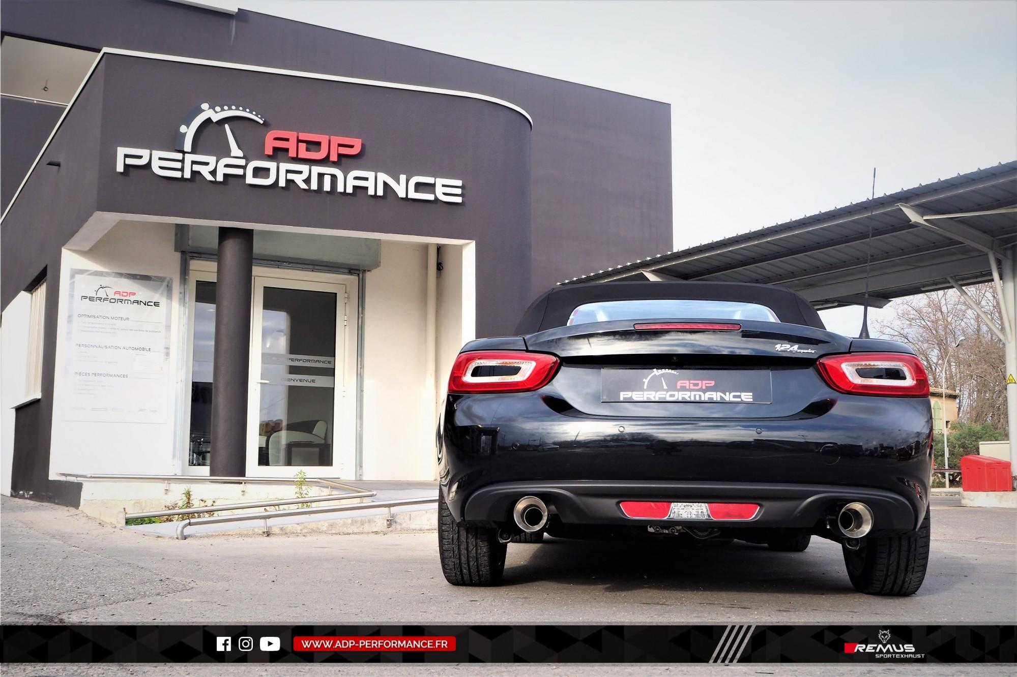 Ligne d'échappement (silencieux) Remus Marseille - Fiat 124 Spider - ADP Performance