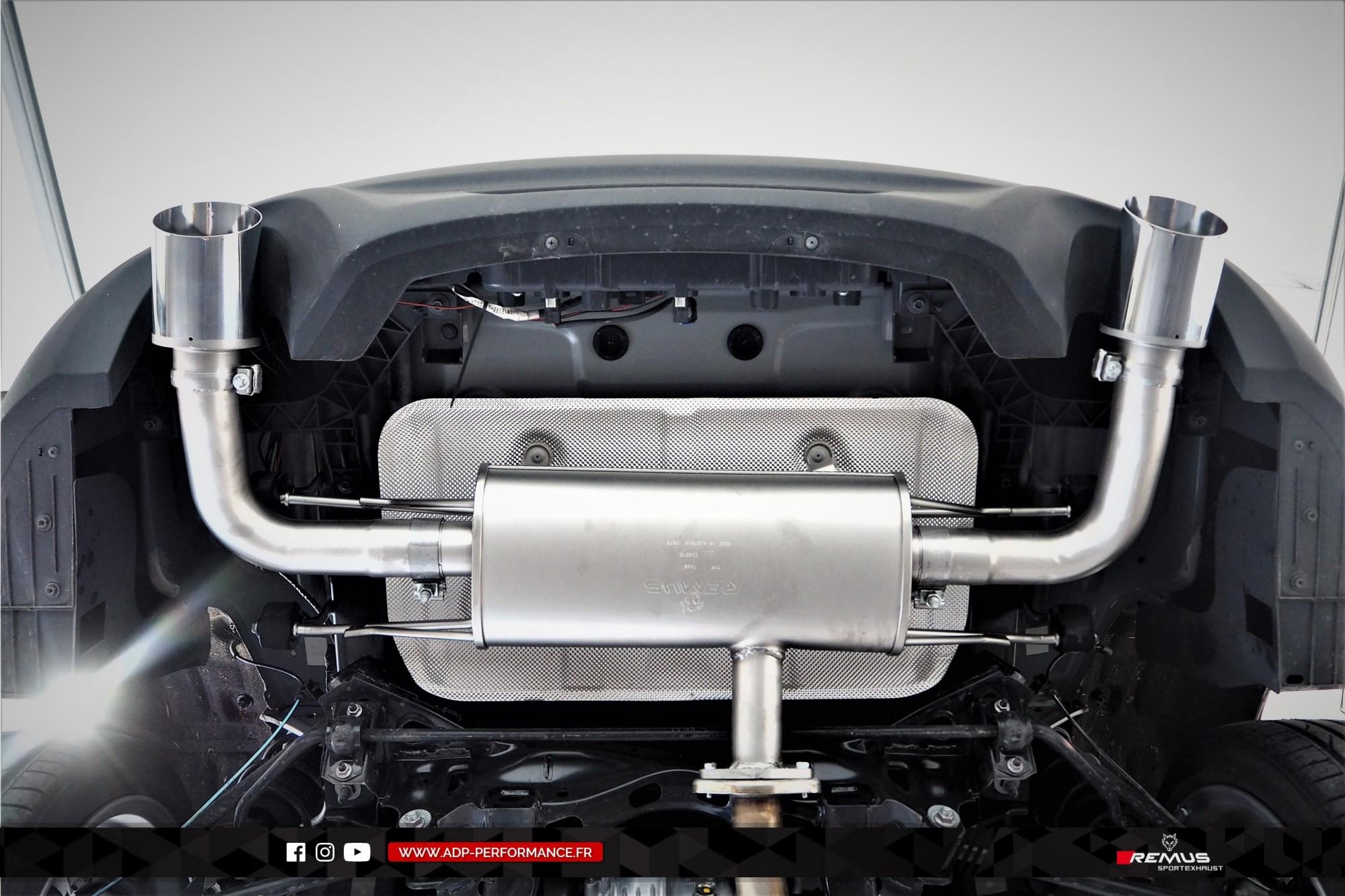 Ligne d'échappement (silencieux) Remus Nimes - Fiat 124 Spider - ADP Performance