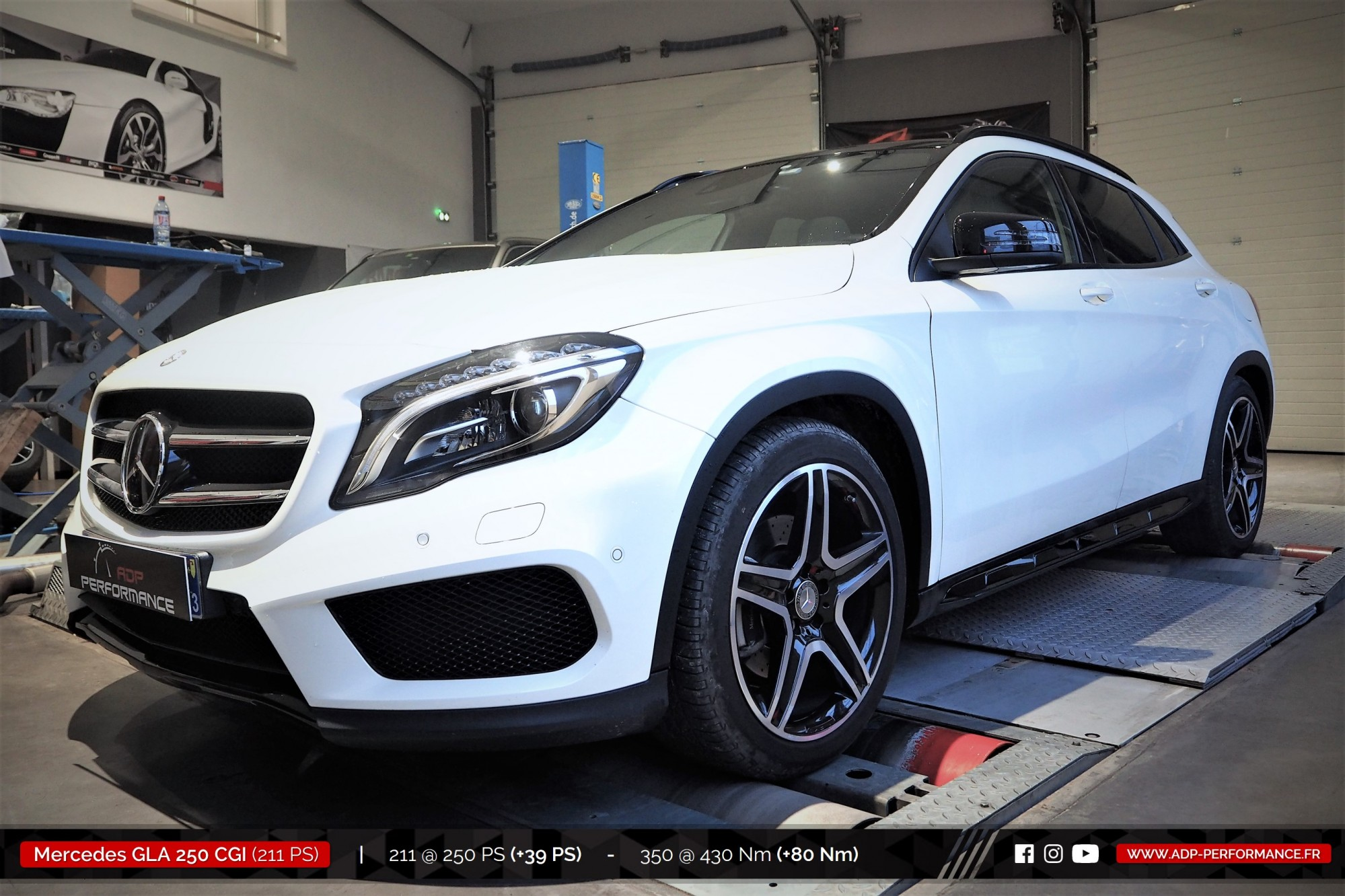 Reprogrammation moteur Salon de Provence - Mercedes GLA 250 CGI 211cv - ADP Performance