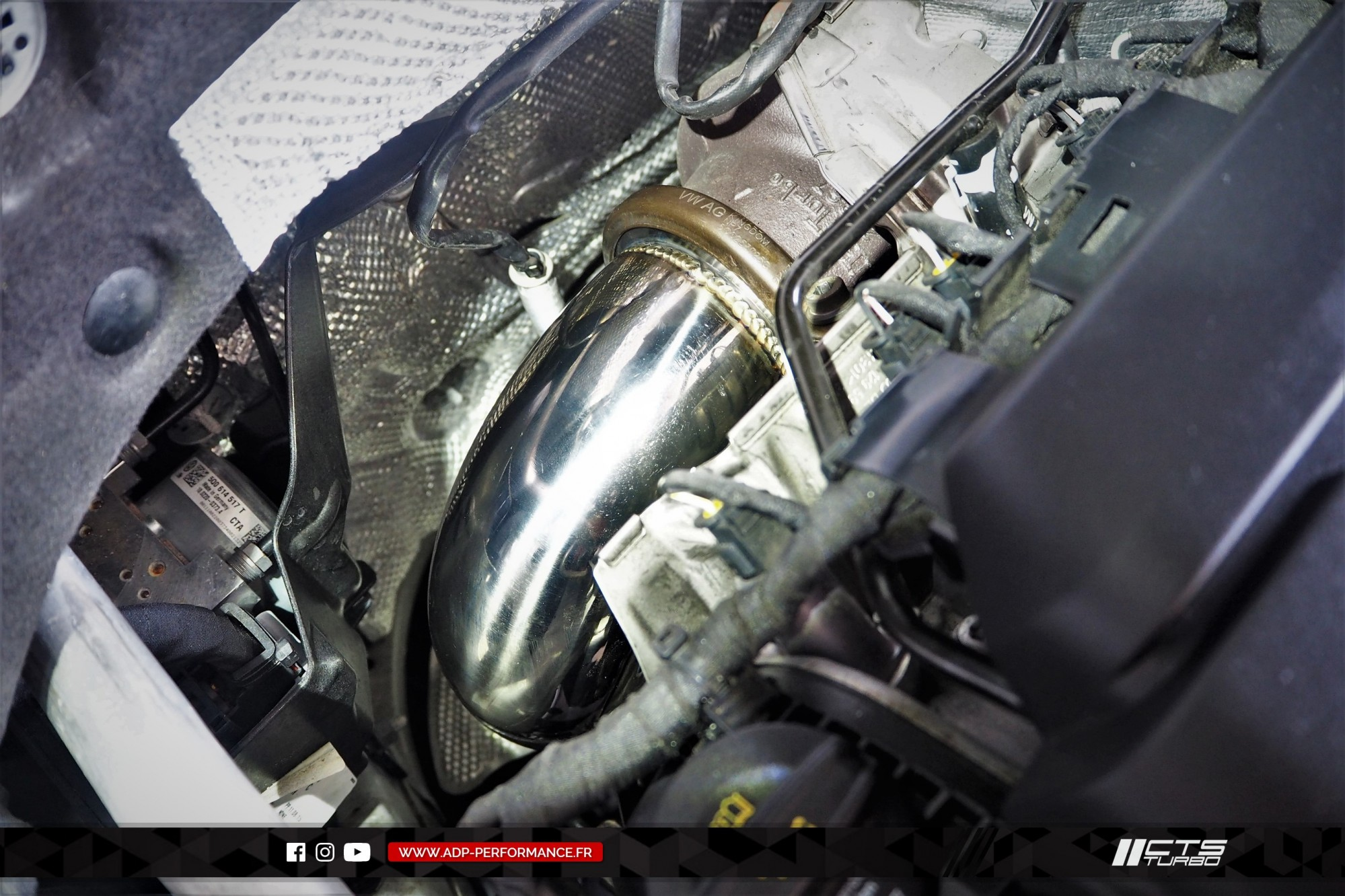 Ligne complète   catalyseur sport CTS Turbo Cabries - VW Golf 7 GTI - ADP Performance