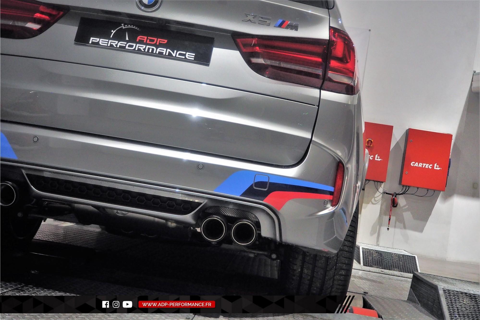 Reprogrammation moteur Sud - Echappement Akrapovic - BMW X5 M 4.4 V8 Bi-Turbo