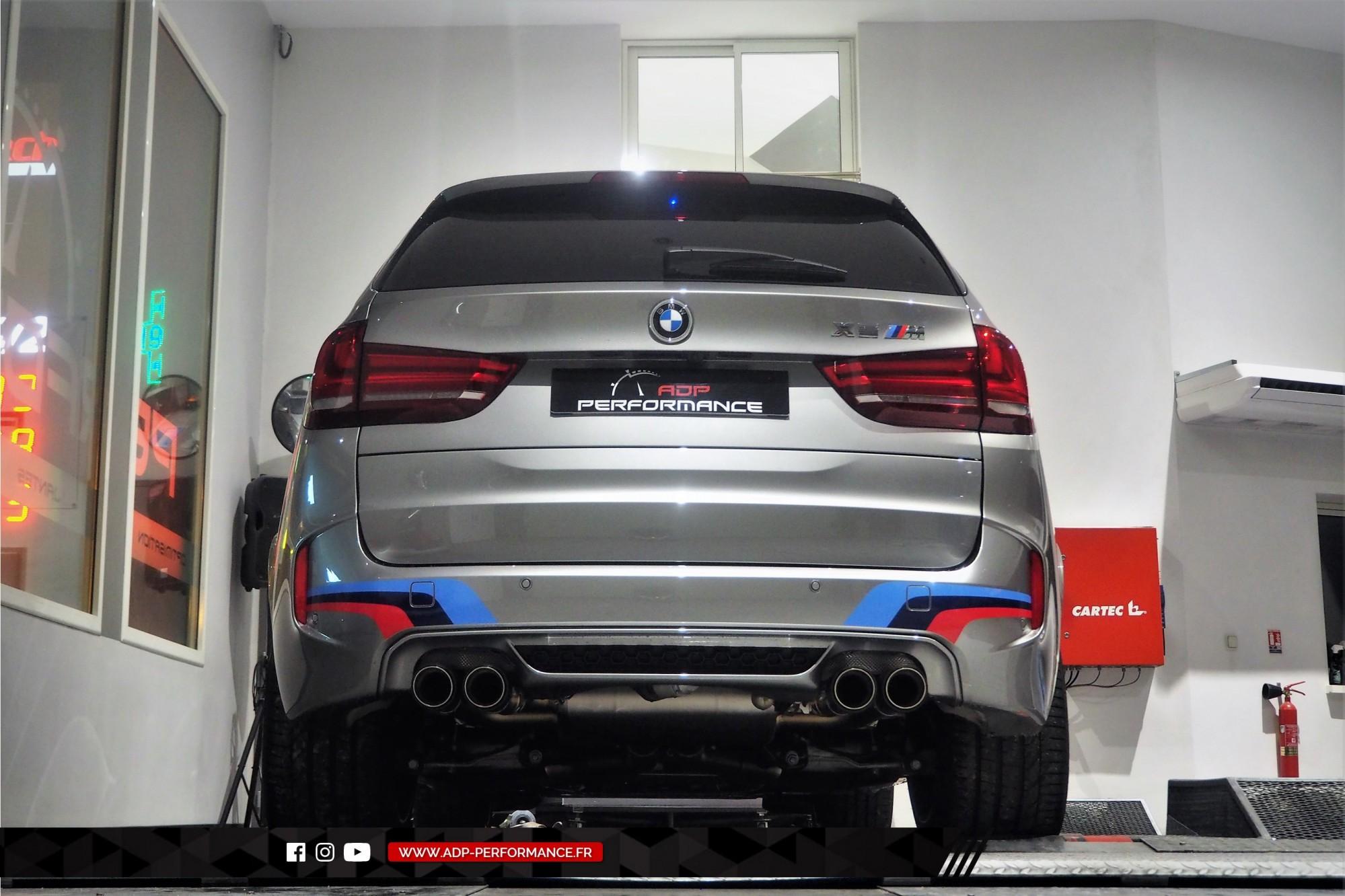 Reprogrammation moteur Le Pontet - Echappement Akrapovic - BMW X5 M 4.4 V8 Bi-Turbo