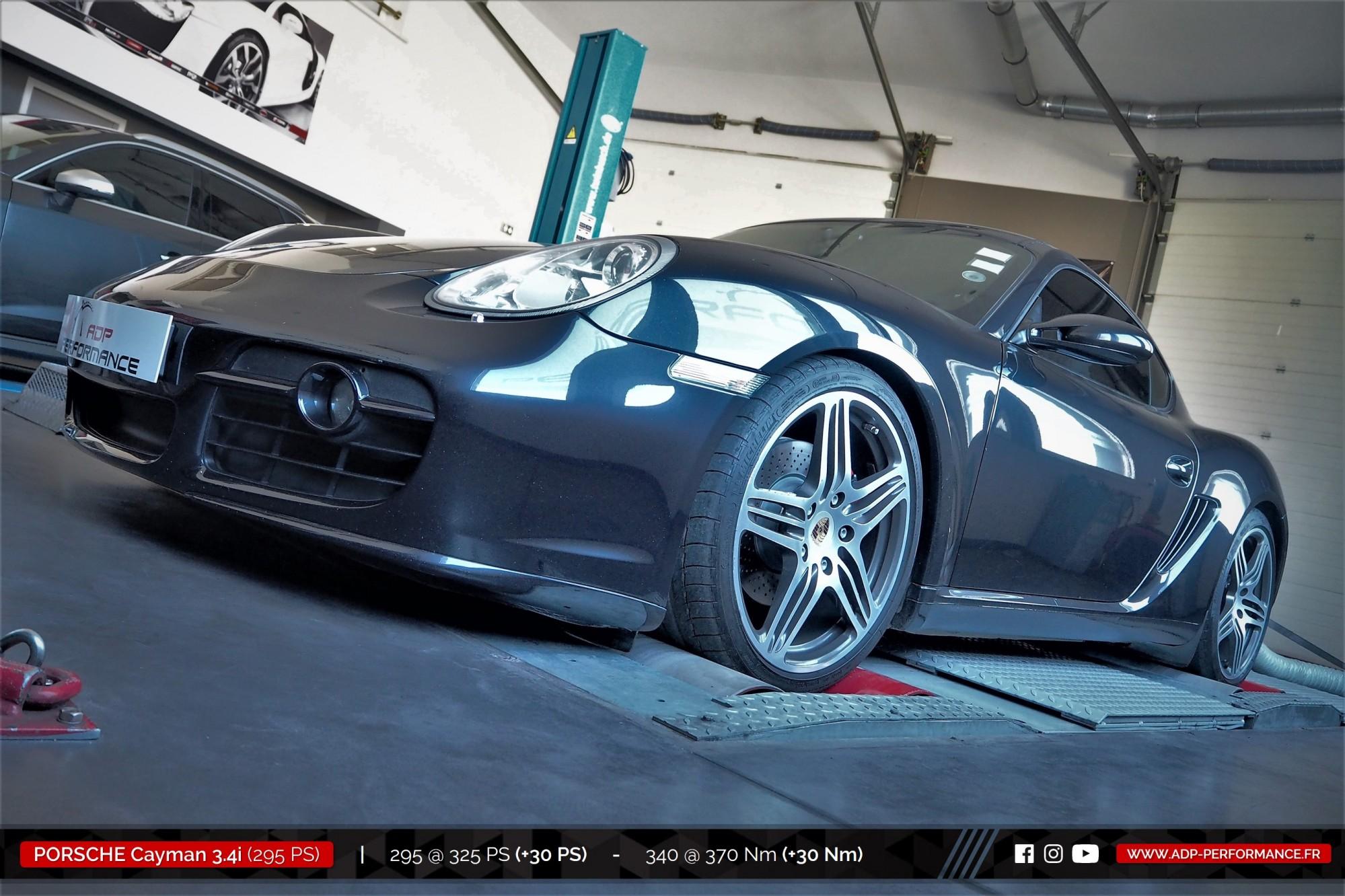 Reprogrammation moteur Salon de Provence - Porsche Cayman S 3.4i 295cv - ADP Performance
