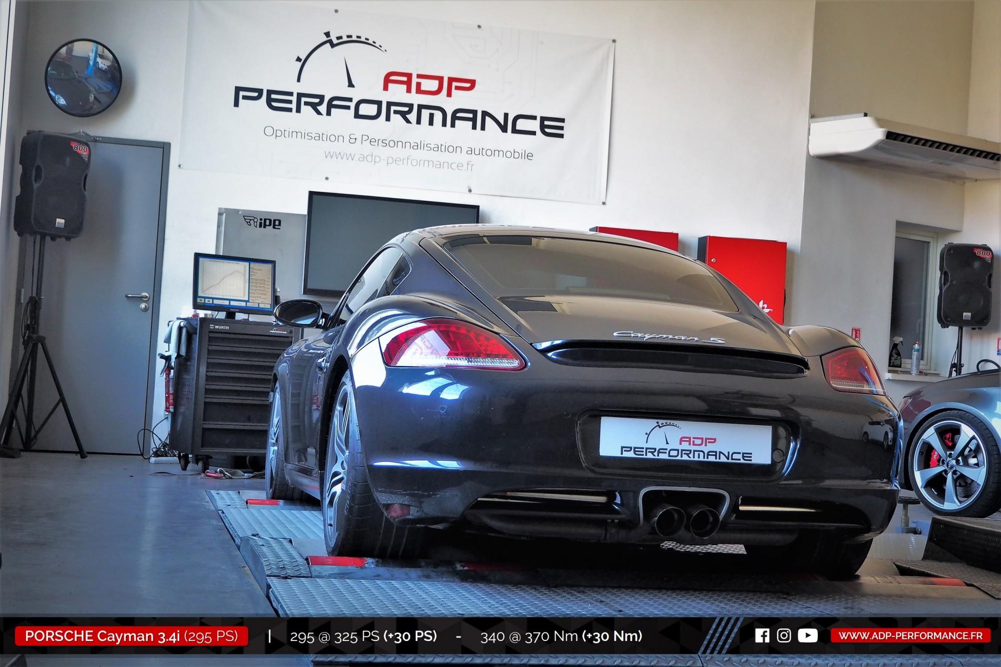 Reprogrammation moteur Nimes - Porsche Cayman S 3.4i 295cv - ADP Performance