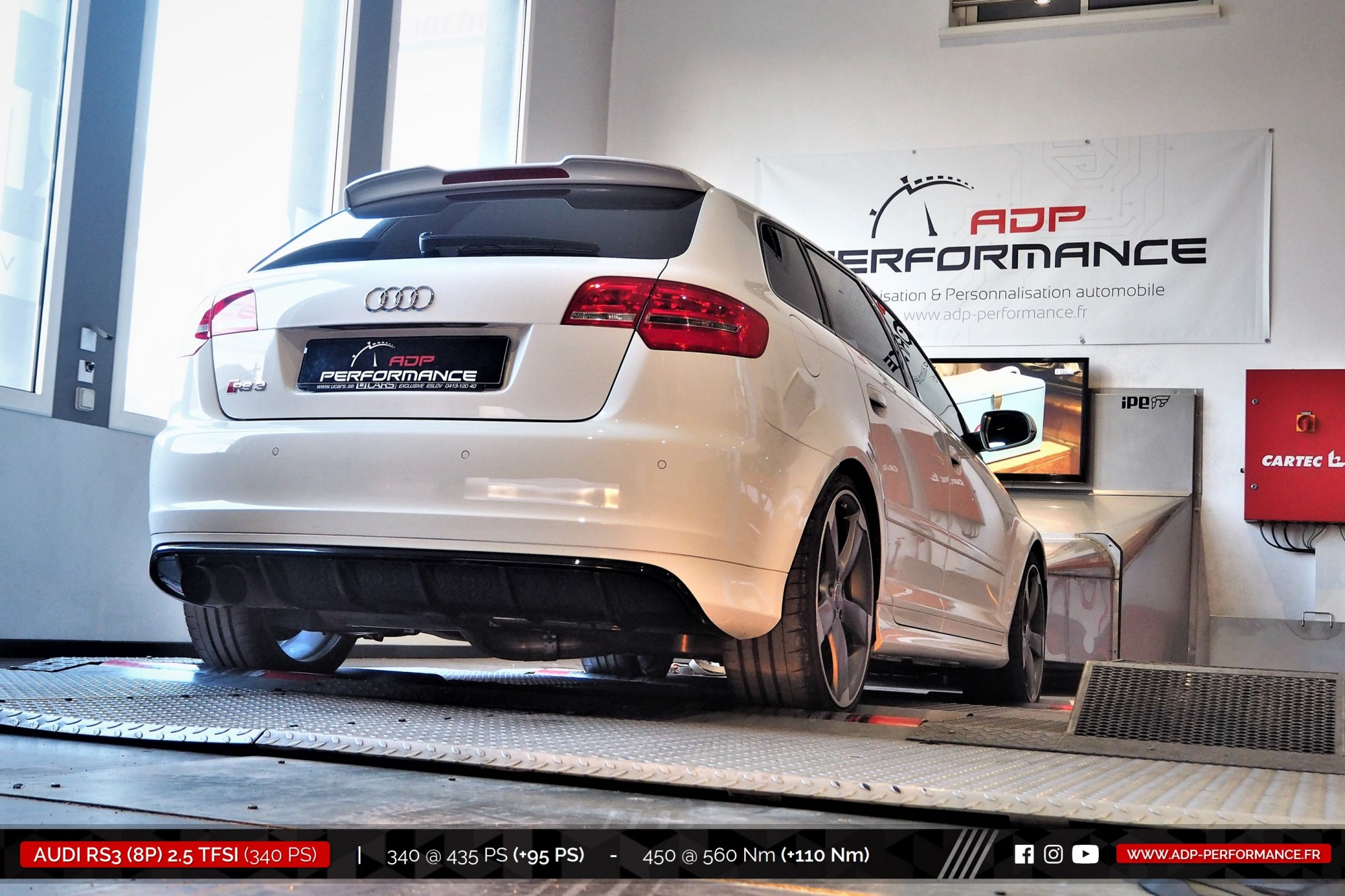 Reprogrammation moteur Montpellier - Audi RS3 8P 2.5 TFSI 340cv - ADP Performance