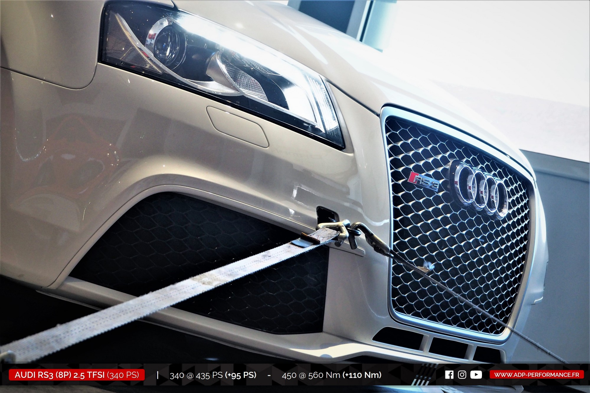 Reprogrammation moteur Aix en Provence - Audi RS3 8P 2.5 TFSI 340cv - ADP Performance