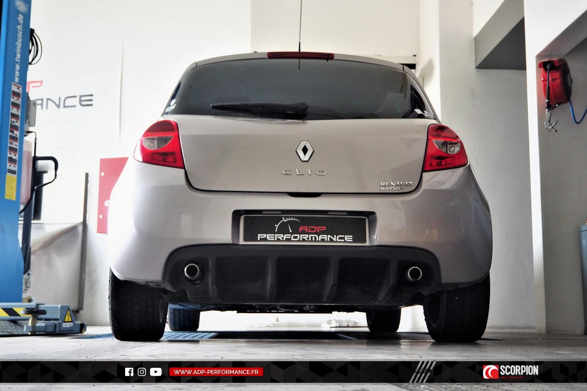 Catback Scorpion Aix en Provence - Renault Clio 3 RS - ADP Performance