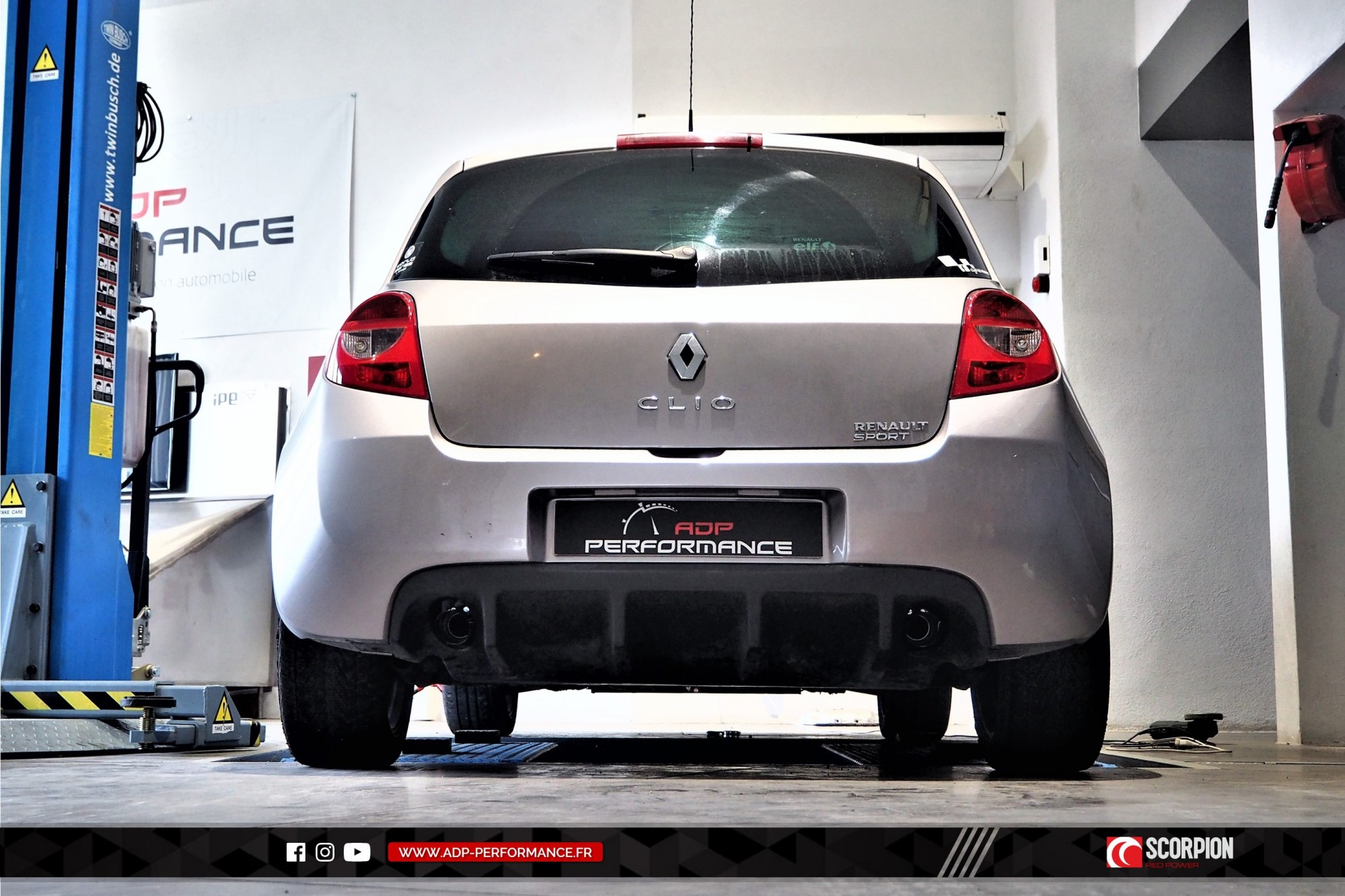 Catback Scorpion Marseille - Renault Clio 3 RS - ADP Performance