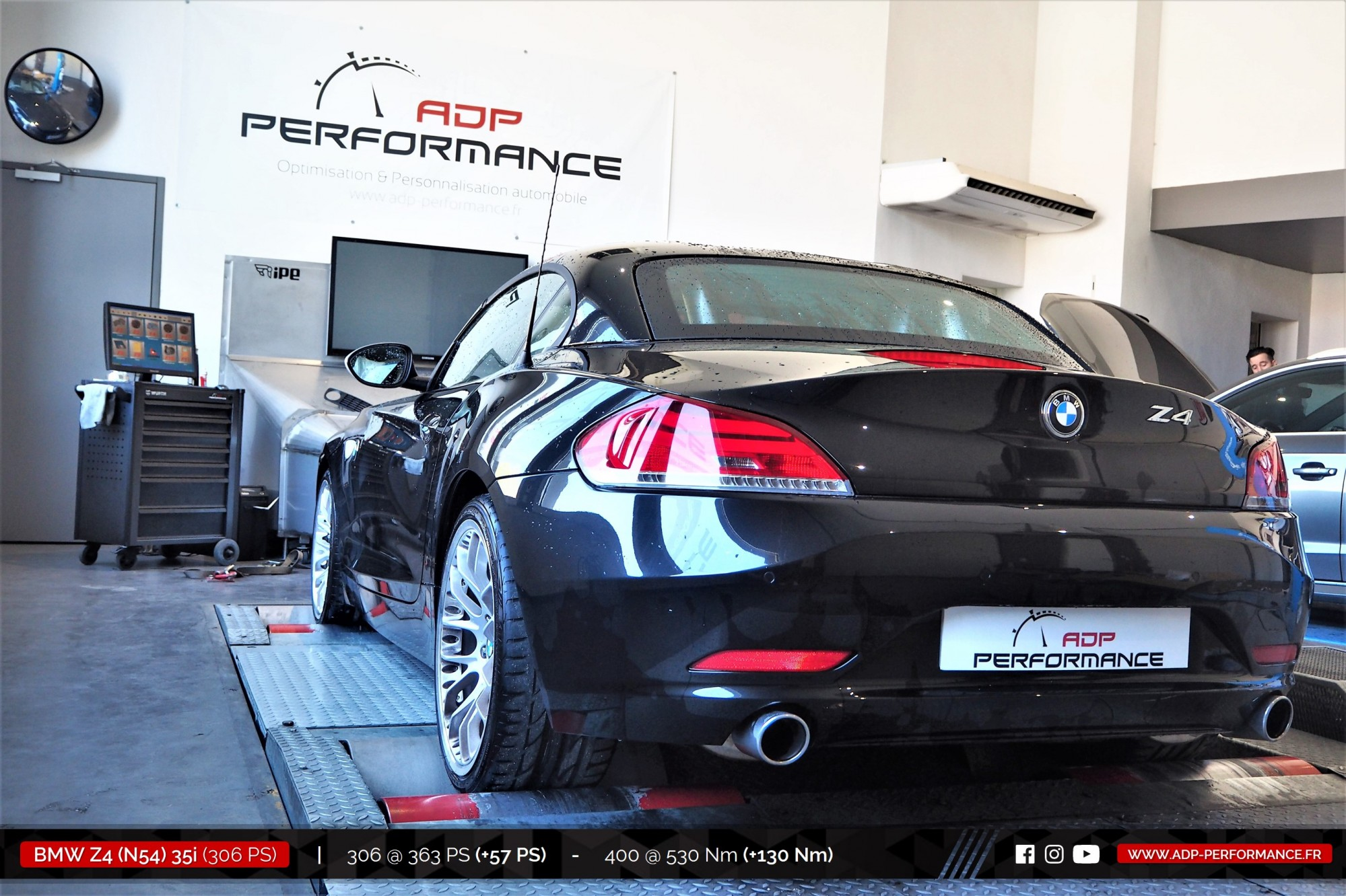 Reprogrammation moteur Avignon - BMW Z4 (N54) 35i 306cv - ADP Performance