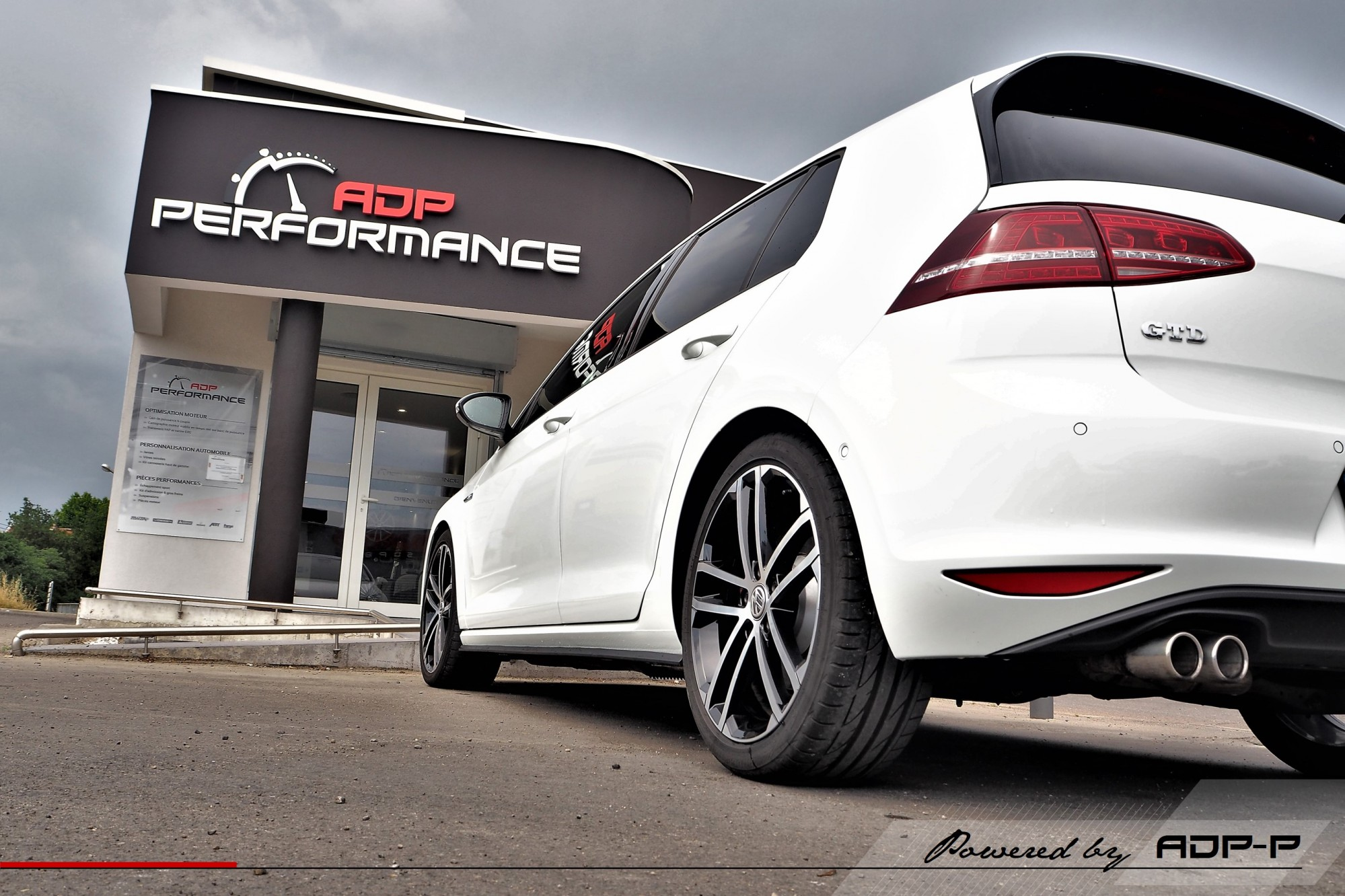 Ressorts courts Eibach VW Golf 7 GTD Salon de Provence - ADP Performance