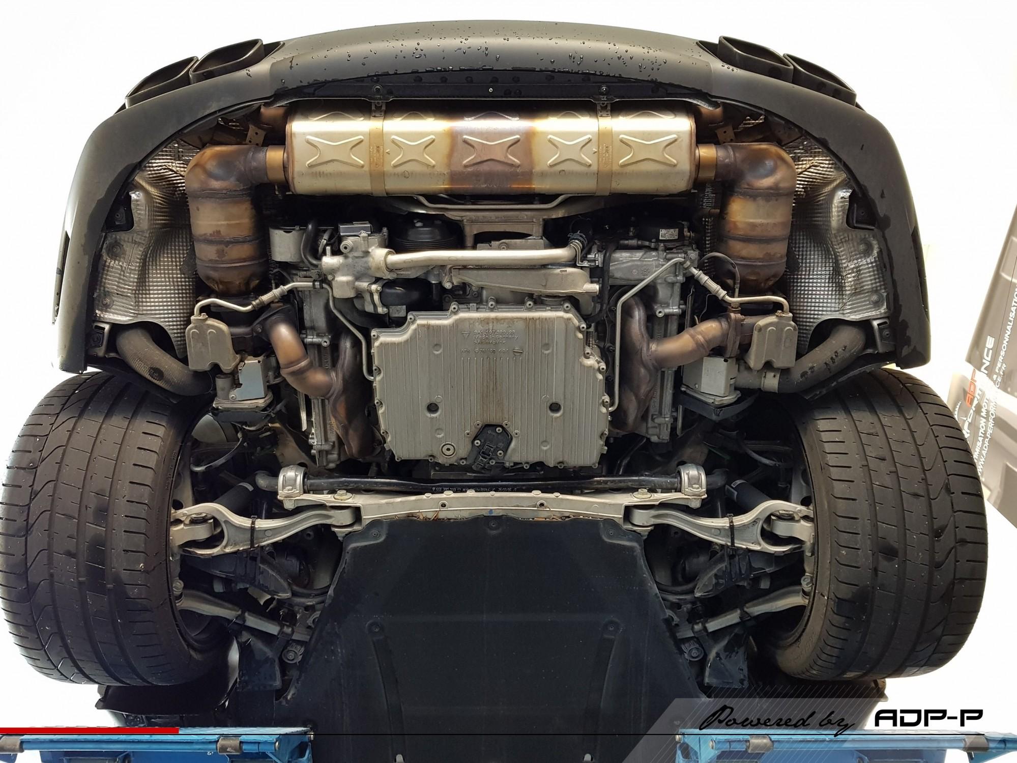 Echappement origine Porsche Turbo S