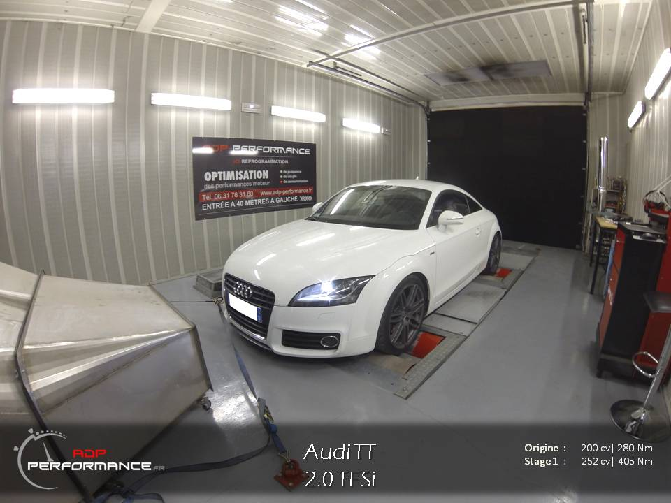 Reprogrammation moteur - Audi TT 8J 2.0 TFSI 200cv - ADP Performance