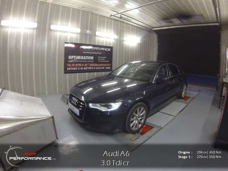 Reprogrammation moteur Audi A6 3.0 tdi 204 cv stage 1  sur Orange. Adp-performance