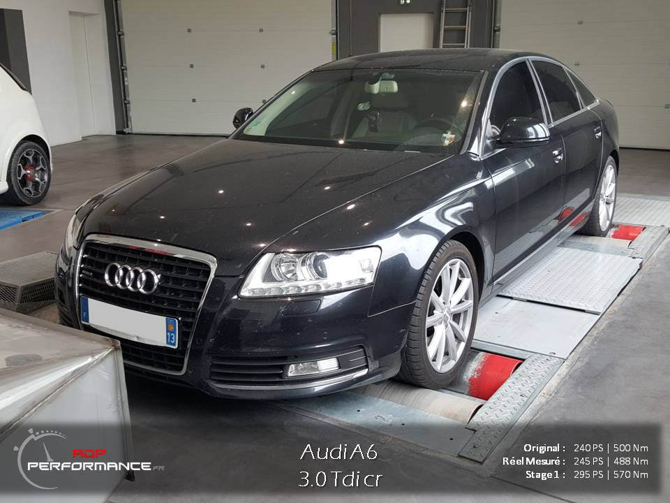 reprogrammation moteur audi a6 3.0 tdi cr adp performance à salon de provence