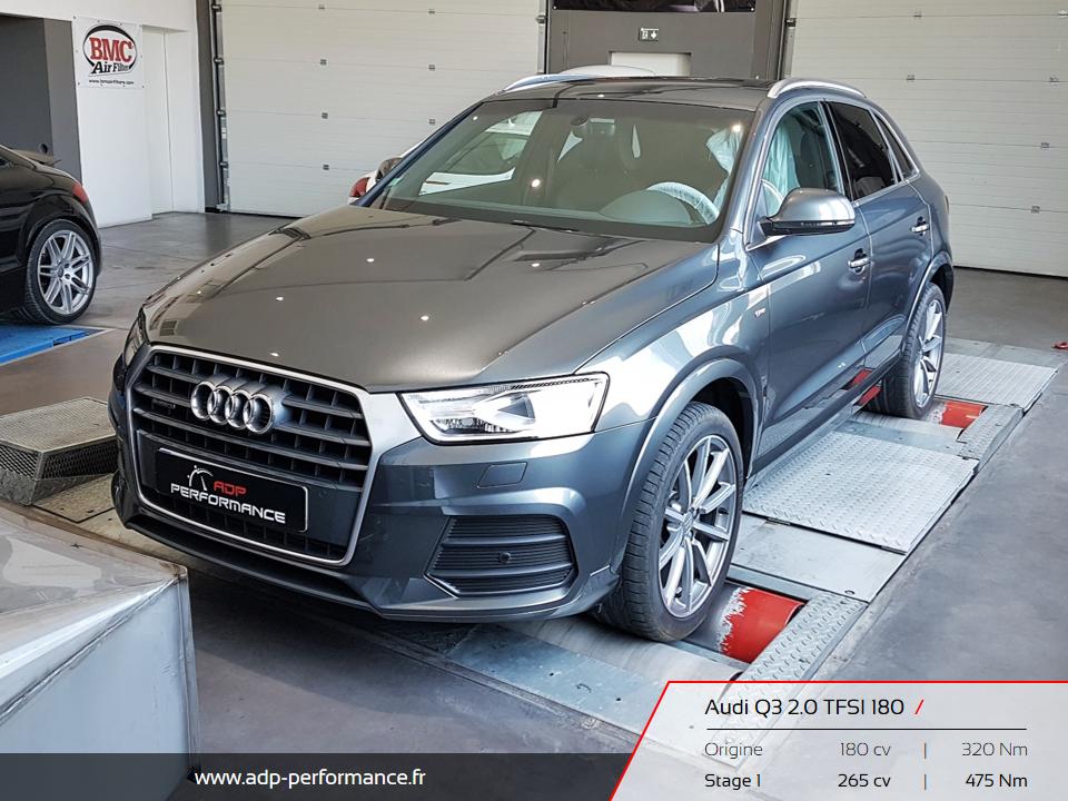 Reprogrammation moteur Manosque, Gap, Briançon - Audi Q3 2.0 TFSI 180 ADP Performance