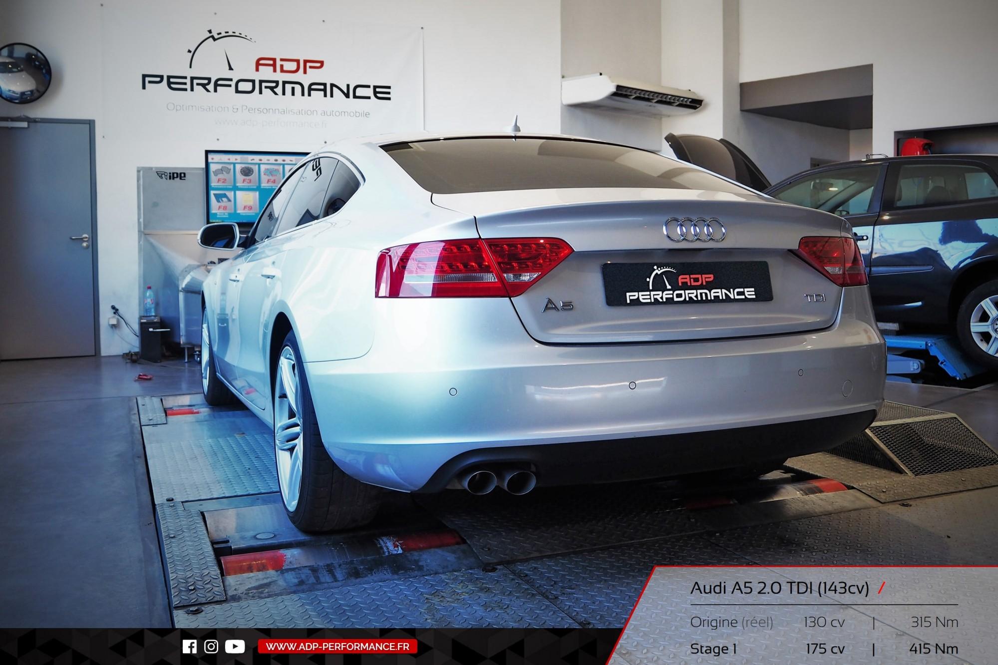 Reprogrammation moteur Plan de Campagne, Aubagne, La Ciotat Audi A5 Mk2 2.0 TDI 143cv - ADP Performance