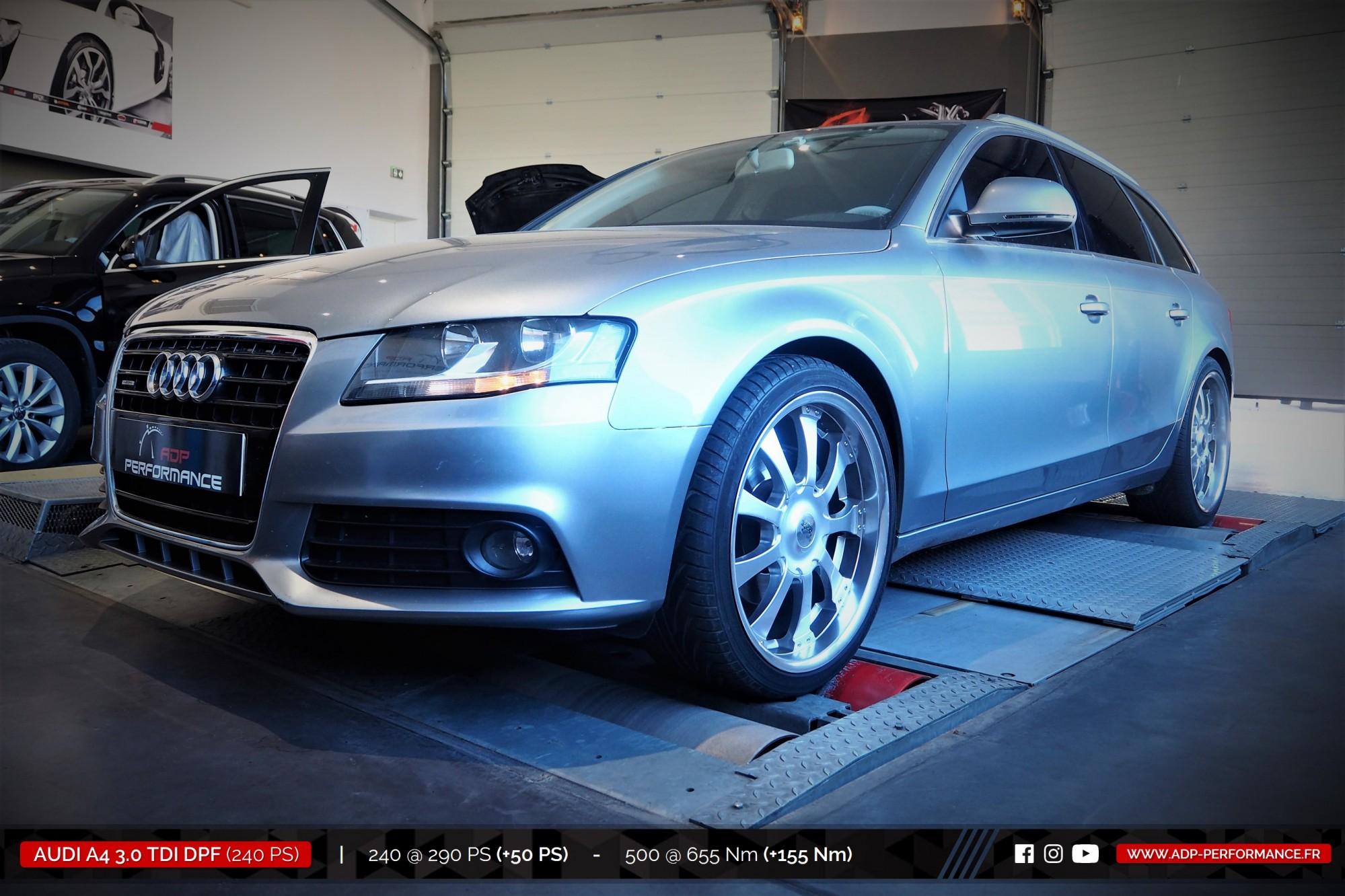 Reprogrammation moteur Marignane, Vitrolles, St Victoret - Audi A4 3.0 TDI DPF 240cv - ADP Performance