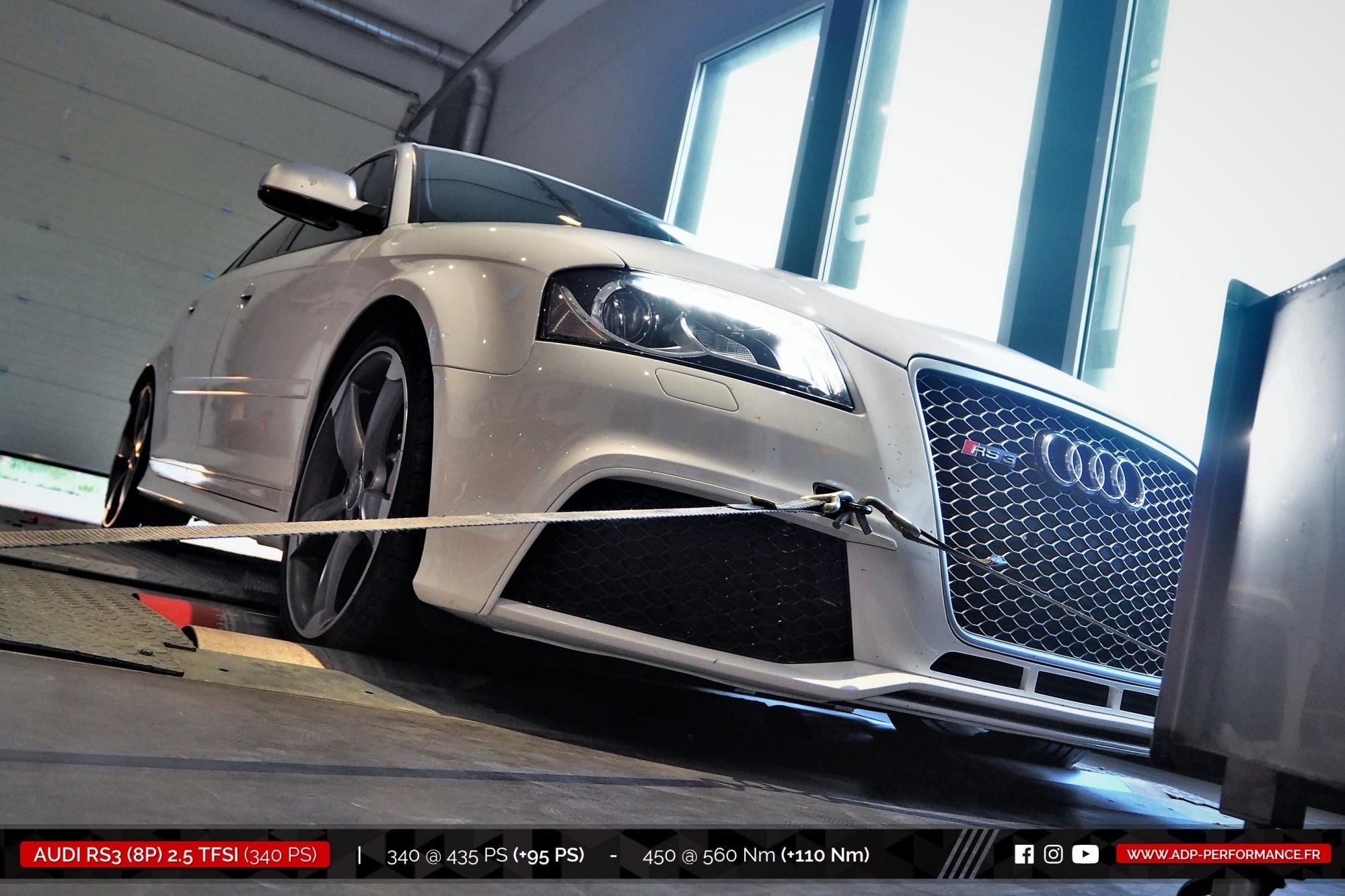 Reprogrammation moteur Nimes, Arles, St Rémy de Provence - Audi RS3 8P 2.5 TFSI 340cv - ADP Performance