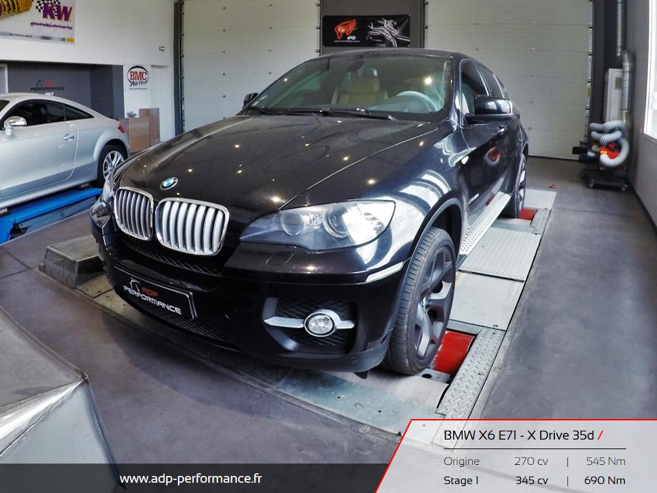 Reprogrammation moteur Hyères, Fréjus, Cannes - BMW X6 ADP Performance